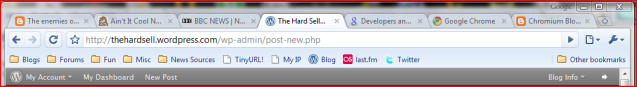 Google Chrome on Vista with tabs open