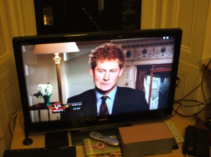 Prince Harry says it all (clipped from Brits)